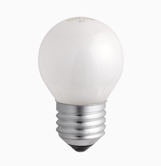 Лампа накаливания Р45 60Вт 220В Е27 шар мат ASD